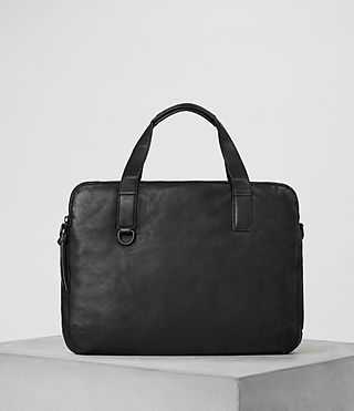 Mens Hart Leather Workbag (Washed Black) - Image 5