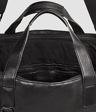 Mens Hart Leather Workbag (Washed Black) - Image 6