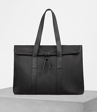 Mens Toguri Leather Holdall (Black)