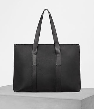 Mens Toguri Leather Holdall (Black) - product_image_alt_text_4