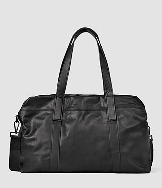 Mens Boundary Leather Holdall (Washed Black)