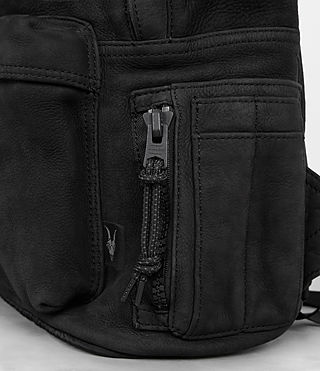 Mens Haydon Rucksack (Washed Black) - Image 2