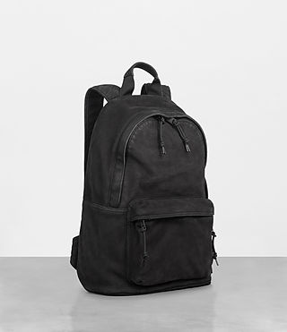 Mens Haydon Rucksack (Washed Black) - Image 5