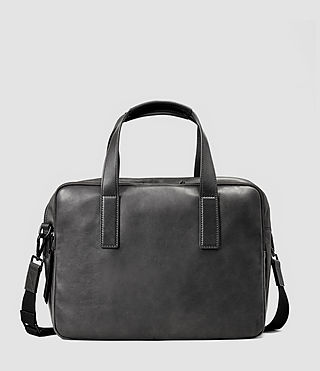 Mens Boundary Leather Work Bag (Slate Grey)