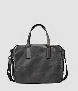 Mens Boundary Leather Weekend Bag (Slate Grey)