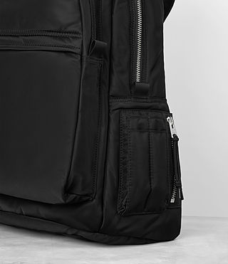 Mens Chamber Nylon Rucksack (Jet Black) - product_image_alt_text_2