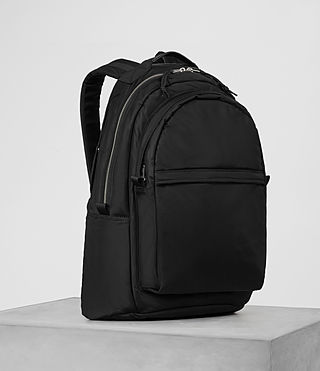 Mens Chamber Nylon Rucksack (Jet Black) - product_image_alt_text_3