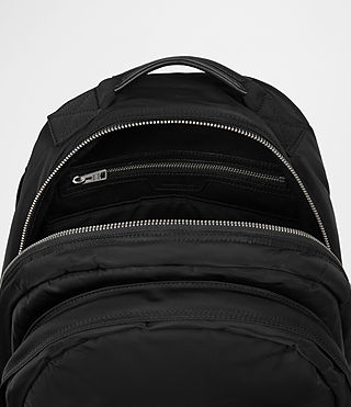 Mens Chamber Nylon Rucksack (Jet Black) - product_image_alt_text_4