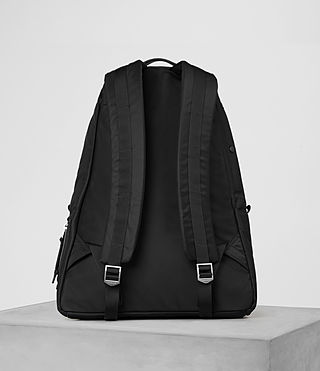 Mens Chamber Nylon Rucksack (Jet Black) - product_image_alt_text_5