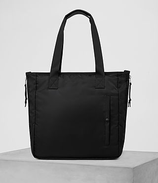 Mens Chamber Nylon Tote Bag (Jet Black)