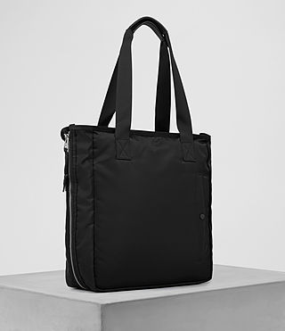 Hombre Chamber Nylon Tote Bag (Jet Black) - product_image_alt_text_3
