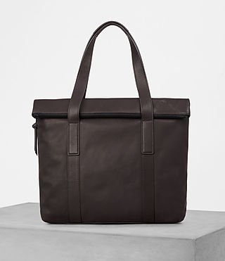 Men's Komaba Leather Tote Bag (Bitter Choc) -