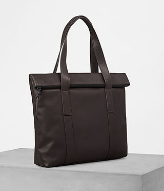 Mens Komaba Leather Tote Bag (Bitter Choc) - product_image_alt_text_3