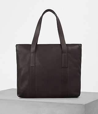 Mens Komaba Leather Tote Bag (Bitter Choc) - product_image_alt_text_4
