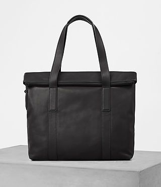 Hombres Komaba Leather Tote Bag (Black)
