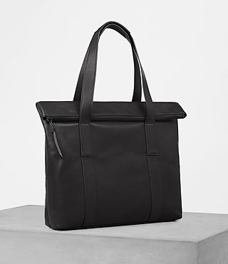 Herren Komaba Leather Tote Bag (Black) - product_image_alt_text_3
