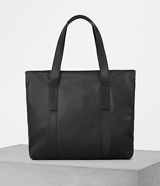 Herren Komaba Leather Tote Bag (Black) - product_image_alt_text_4