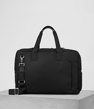 Hombre Chamber Nylon Holdall (Jet Black) - product_image_alt_text_1