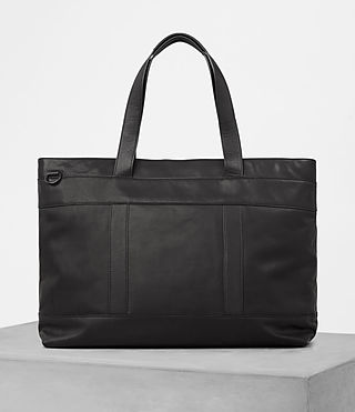 Mens Komaba Leather Holdall (Black)