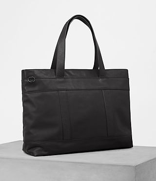 Hombres Komaba Leather Holdall (Black) - product_image_alt_text_3