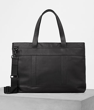 Hombres Komaba Leather Holdall (Black) - product_image_alt_text_4