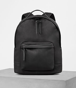 Mens Toguri Leather Rucksack (Black) - product_image_alt_text_1
