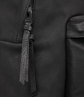 Mens Toguri Leather Rucksack (Black) - product_image_alt_text_2