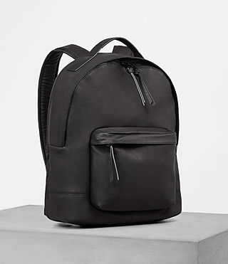 Mens Toguri Leather Rucksack (Black) - product_image_alt_text_3