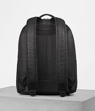 Mens Toguri Leather Rucksack (Black) - product_image_alt_text_4