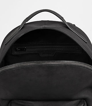 Mens Toguri Leather Rucksack (Black) - product_image_alt_text_5