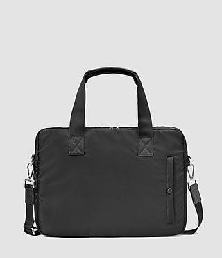 Uomo Chamber Nylon Work Bag (Jet Black)