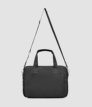 Uomo Chamber Nylon Work Bag (Jet Black) - product_image_alt_text_2