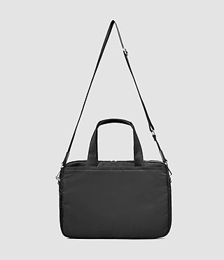 Uomo Chamber Nylon Work Bag (Jet Black) - product_image_alt_text_3
