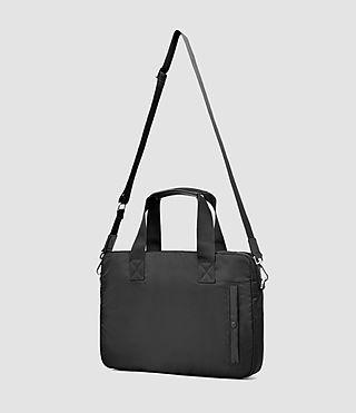 Uomo Chamber Nylon Work Bag (Jet Black) - product_image_alt_text_4