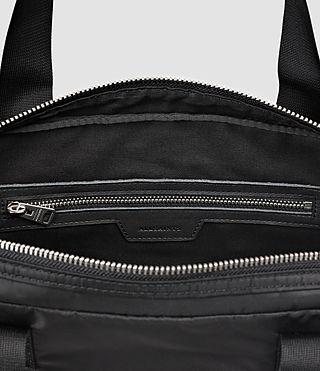 Uomo Chamber Nylon Work Bag (Jet Black) - product_image_alt_text_6