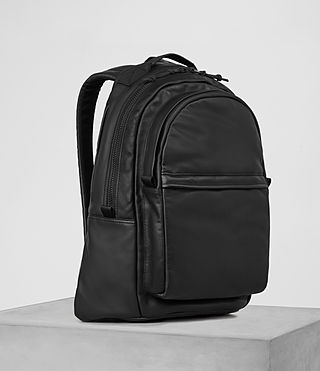 Herren Flight Leather Rucksack (Washed Black) - product_image_alt_text_3