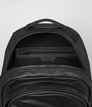 Herren Flight Leather Rucksack (Washed Black) - product_image_alt_text_4