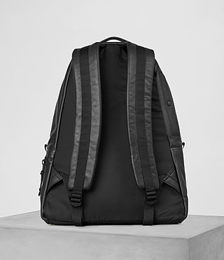 Herren Flight Leather Rucksack (Washed Black) - product_image_alt_text_5