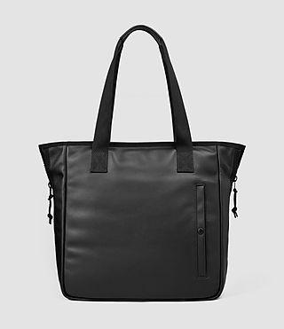 Mens Flight Leather Tote Bag (Washed Black)