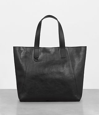 Men's Hudson Leather Tote (Black) - Image 1