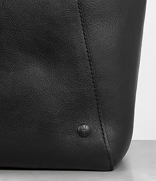 Men's Hudson Leather Tote (Black) - Image 2