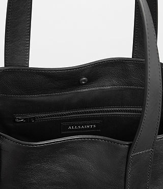 Men's Hudson Leather Tote (Black) - Image 4