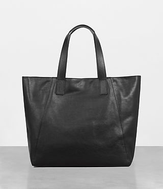 Men's Hudson Leather Tote (Black) - Image 6