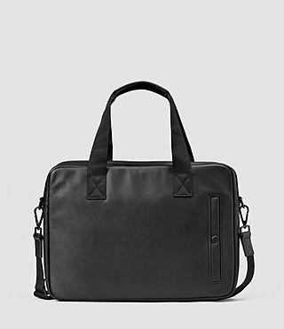 Mens Flight Leather Work Bag (Washed Black)