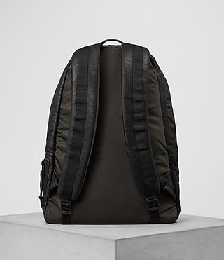 Hommes Sac à dos en cuir Shoto (Washed Black/Khaki) - product_image_alt_text_6