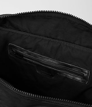 Mens Shoto Leather Holdall (Washed Black/Grey) - product_image_alt_text_5