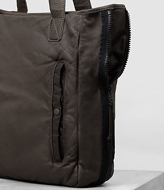 Uomo Tote in pelle Shoto (WASHED TAUPE/KHAKI) - product_image_alt_text_3