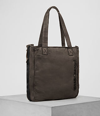 Mens Shoto Leather Tote (WASHED TAUPE/KHAKI) - product_image_alt_text_4