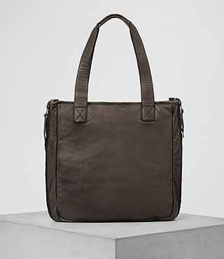 Mens Shoto Leather Tote (WASHED TAUPE/KHAKI) - product_image_alt_text_6