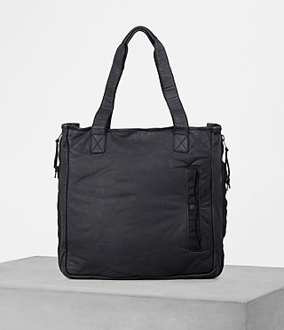 Mens Shoto Leather Tote (WASHED INK/ BLACK) - product_image_alt_text_1